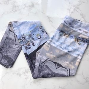 Onzie Frosted Blue and Gray High Rise Leggings